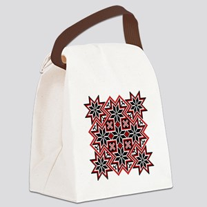 Folk Design 8 Canvas Lunch Bag
